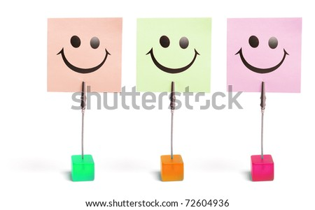 Memo Clip Holders on White Background - stock photo