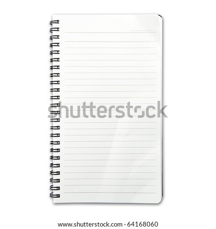 Memo note with real world use fold and wrinkles. - stock photo