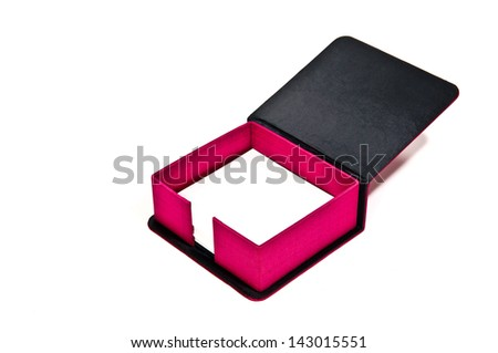 memo pad holder with blank white memo paper - stock photo