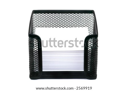 Black Mesh Memo Pad Holder Blank Stock Photo 2545022 - Shutterstock