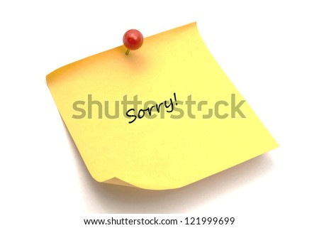 memo paper isolated on white background