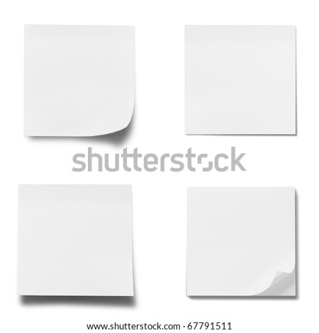 memo stick isolated on white background