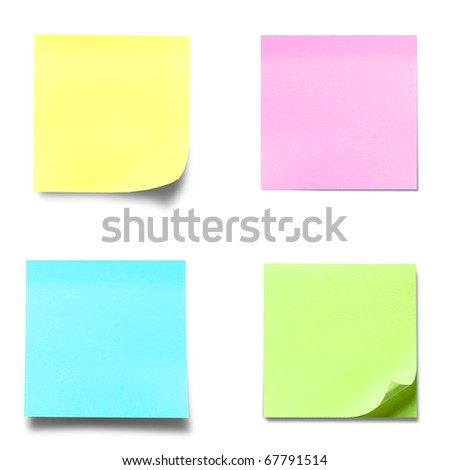 memo stick isolated on white background - stock photo