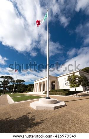 Memorial american cemetery in Nettuno, Italy, WWII - stock photo