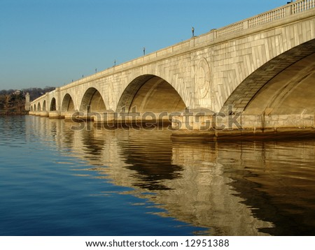 Memorial Bridge in Washington D.C. - stock photo