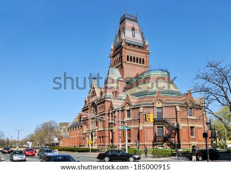 Memorial Hall and Sanders Theater, Harvard University - stock photo