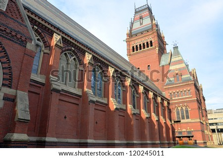 Memorial Hall in Harvard University, Cambridge, Massachusetts, USA - stock photo