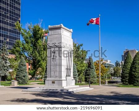 Memorial Park in Calgary, Alberta Canada during the beautiful fall season.  - stock photo