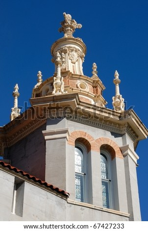 memorial presbyterian church at historic st augustine florida usa - stock photo