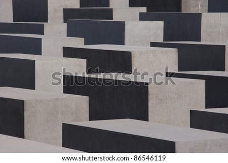 Memorial to the Murdered Jews - stock photo