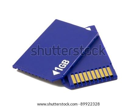memory card for digital camera - stock photo