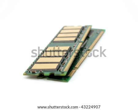 Memory cards for computer over white