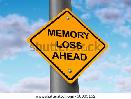 memory loss alzheimer's ahead road street sign