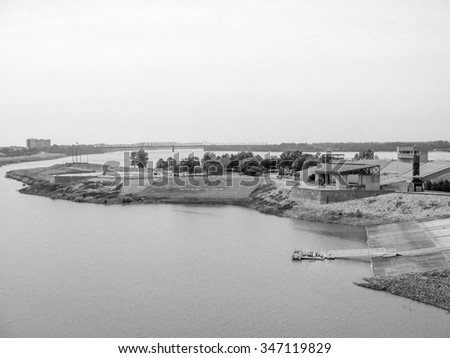 MEMPHIS, USA - OCTOBER 19, 2009: View of the city of Memphis in Tennessee known as the city of Blues music in black and white