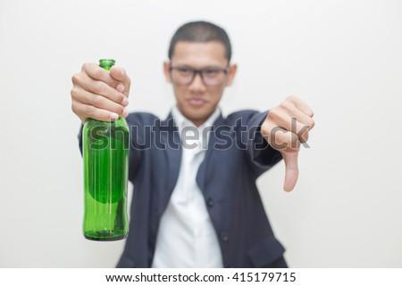 Men Against Drinking - stock photo