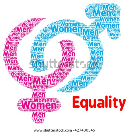 Men and women sex equality concept  - stock photo