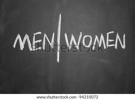 men and women sign - stock photo