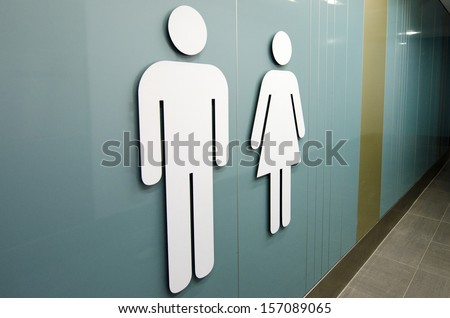 Men and women toilet signs. - stock photo