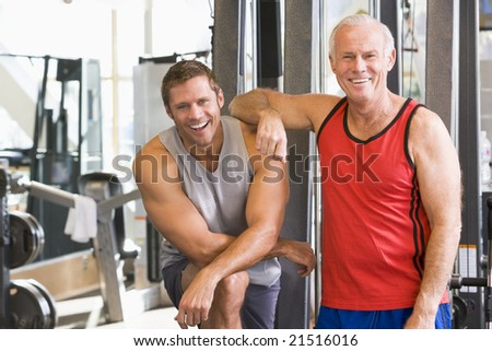 Men At The Gym Together - stock photo