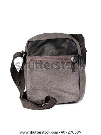 Men bag isolated on white background