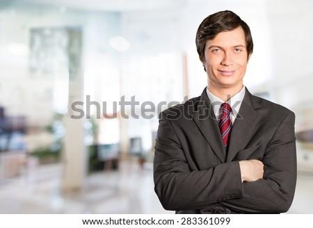 Men, Business, Portrait. - stock photo