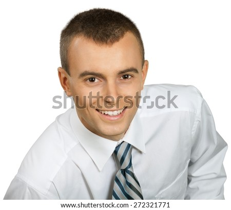 Men, Businessman, Smiling. - stock photo