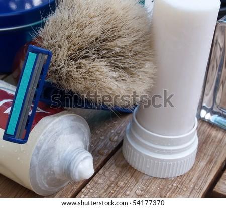 men care classic shaving tools - stock photo