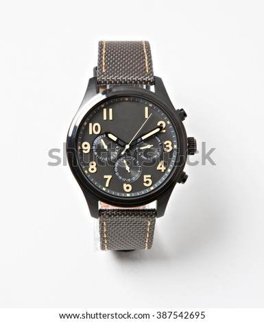 men casual and styylish watch isolated with shadows - stock photo