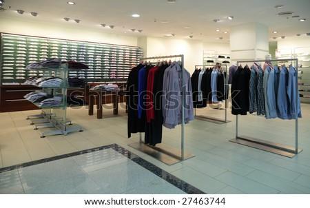 Men clothes in shop - stock photo