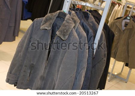 men fashion dress store - stock photo