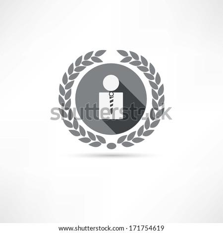 men icon - stock photo