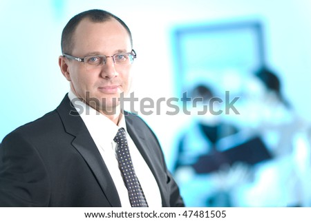 Men in glasses - stock photo