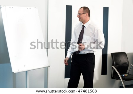 Men in glasses with cup - stock photo