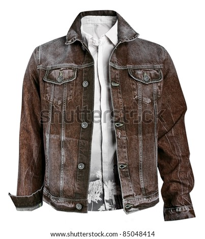 men jacket - stock photo
