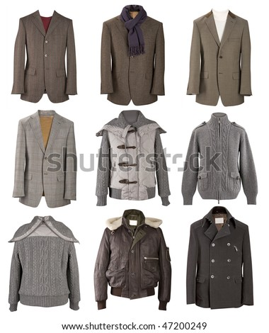 men jackets collection - stock photo