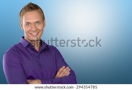 Successful Senior Man Folded Hands Standing Stock Photo ...