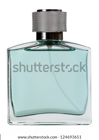 Men perfume. Bottle spray - stock photo