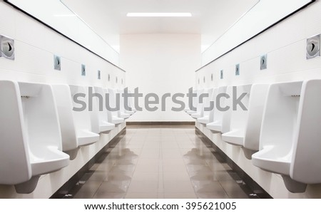 men restroom - stock photo