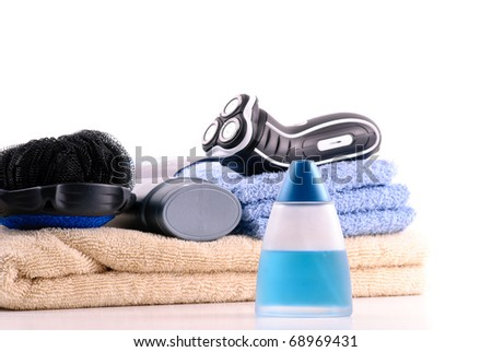 Men's After Shave with Bath Assets - stock photo
