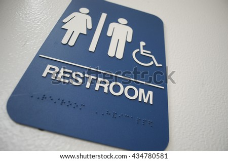 Men's and Women's Restroom Sign