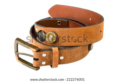 Men's Belt isolated on a white background