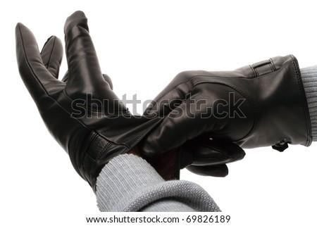 Black Leather Gloves For Men Men's Black Leather Gloves