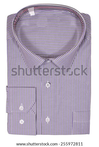 Men's blank folded shirt. Isolated on a white background - stock photo