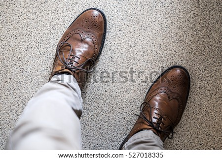 Men's brogues seen from above