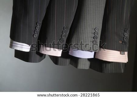 men's business pinstripe suit - stock photo