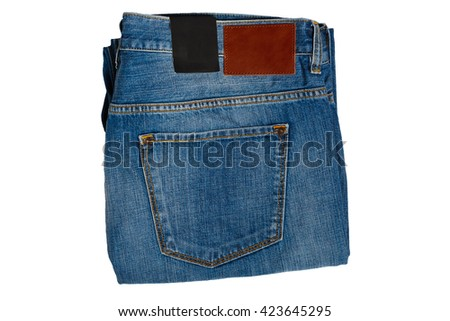 men's casual jeans - stock photo