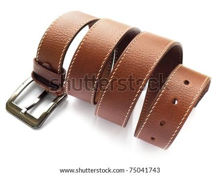 Men's fashion belt - stock photo