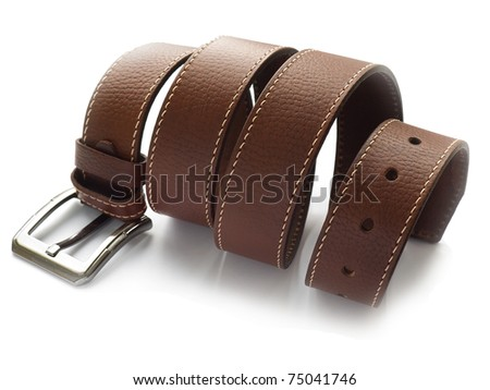 Men's fashion belt - stock photo
