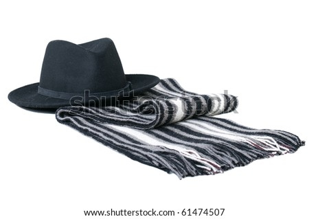 Men's hat and scarf.