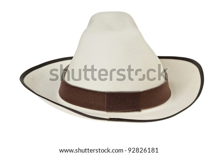 Men's hat isolated on white background - stock photo